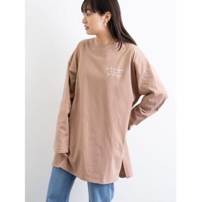 tシャツ Tシャツ 胸元刺繍ロンT*