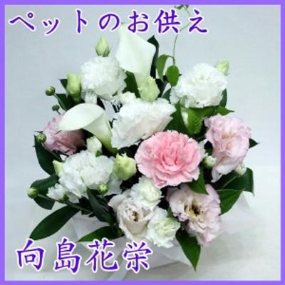 ペットの供花 白・ピンクのお供え花【お供え・命日・法事・お盆・お彼岸・ペットのお供え】