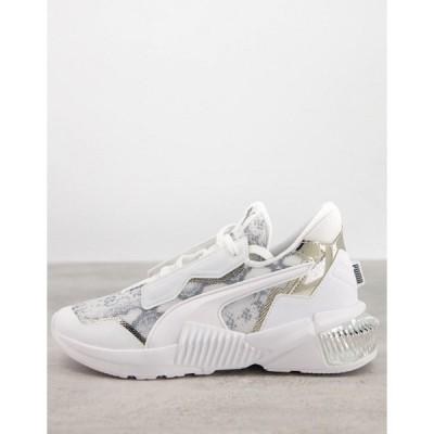 プーマ レディース スニーカー シューズ Puma Provoke XT sneakers in white and lilac White