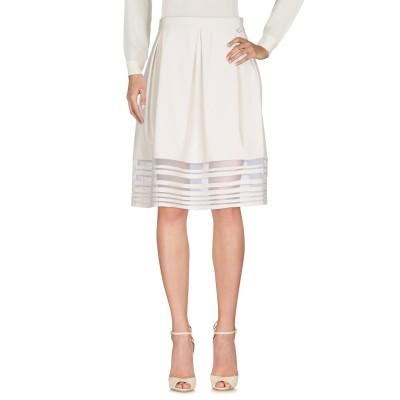 ツインセット シモーナ バルビエリ TWINSET ひざ丈スカート ライトグレー M ポリウレタン 100% ひざ丈スカート