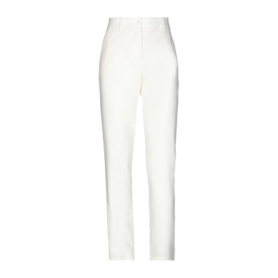 BOUTIQUE MOSCHINO パンツ ホワイト 38 96% コットン 4% 指定外繊維(アルリカハネガヤ) パンツ