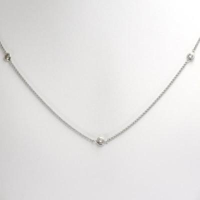 PT900 プラチナ ネックレス ブラウンダイヤ 2.00 VS~SI 鑑別書 総重量約13.8g 中古ジュエリー