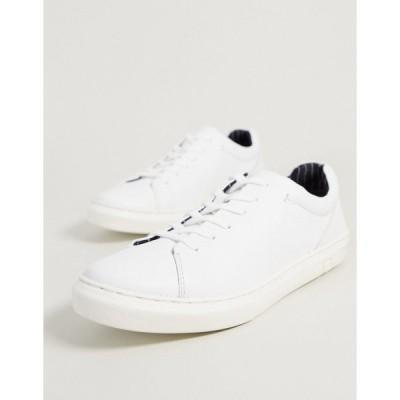 シルバーストリート スニーカー メンズ Silver Street chunky sole leather trainer in whiteRRP  エイソス ASOS ホワイト 白