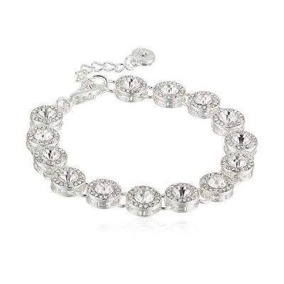 Anne Klein Silver-Tone and Crystal Pave Line Bracelet