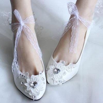 ウェディングシューズ パンプス 結婚式シューズ パーティー パンプス シューズ 靴 ★ウエディングドレス 美脚 ハイヒール フォーマル ワンピース 疲れない