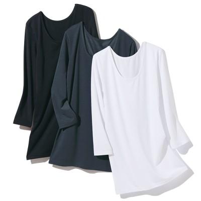 ベルーナ 快適な服!<37.5(R)>ロングプルオーバー ブラック L レディース