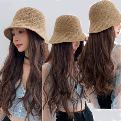 帽子ウィッグ レディース かつら ロング つけ毛 エクステ キャップ 髪付き帽子 セミロング 自然 ストレート おしゃれ 日常用