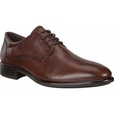エコー メンズ スニーカー シューズ Men's ECCO Citytray Plain Toe Oxford Cognac Full Grain Leather