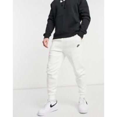 ナイキ メンズ カジュアルパンツ ボトムス Nike Tech Fleece sweatpants in white White