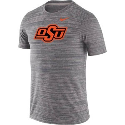 ナイキ メンズ Tシャツ トップス Nike Men's Oklahoma State Cowboys Grey Velocity Performance T-Shirt