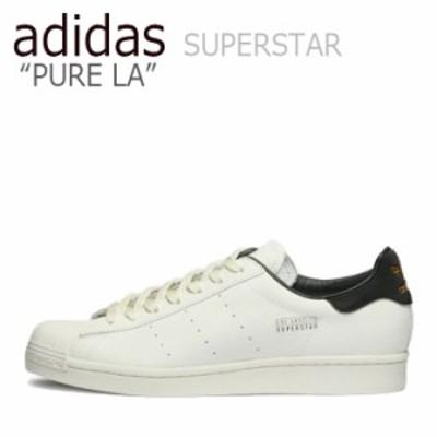 アディダス スーパースター スニーカー adidas SUPERSTAR PURE LA スーパースター ピュア LA WHITE BLACK FV3014 シューズ