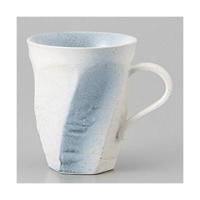【SALE6/25まで】和食器  美濃焼 ねじり白彩色マグ マグカップ(大) 220cc
