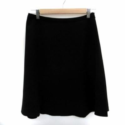 【中古】アンタイトル UNTITLED スカート フレア ひざ丈 2 黒 ブラック /HO11 レディース