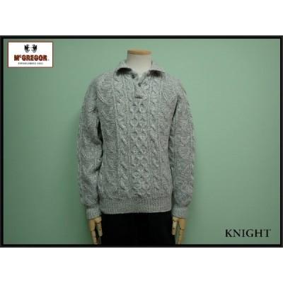 McGREGOR セーター・M□マクレガー/衿付きニット/アランセーター/20*12*4-24