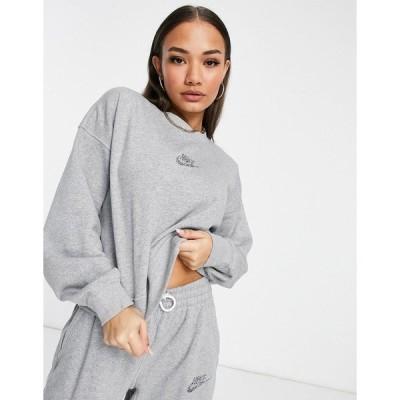 ナイキ レディース パーカー・スウェットシャツ アウター Nike Revival sweatshirt in gray Grey