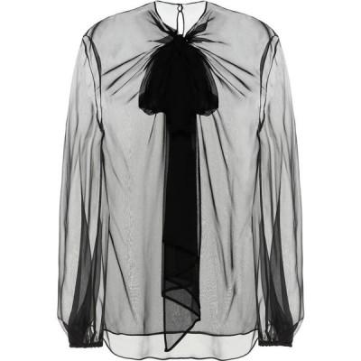 ヴァレンティノ Valentino レディース ブラウス・シャツ トップス silk chiffon blouse Black