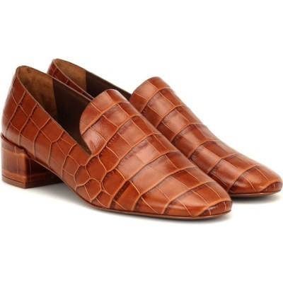 メルセデス カステロ Mercedes Castillo レディース パンプス シューズ・靴 tillie croc-effect leather pumps Tan