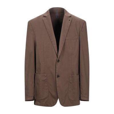 アティピコ AT.P.CO テーラードジャケット ブラウン 58 コットン 97% / ポリウレタン 3% テーラードジャケット