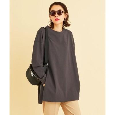 tシャツ Tシャツ BY∴ コットンワイドサイドスリットロングスリーブTシャツ