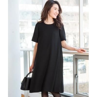 フォーマル半袖ワンピース (ブラックフォーマル)Funeral Outfit