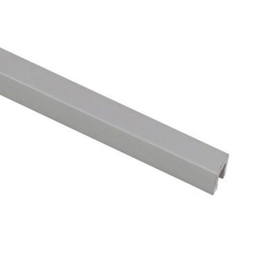 アルミチャンネル 1.5×6.2×8.3mm 1m シルバー 1本