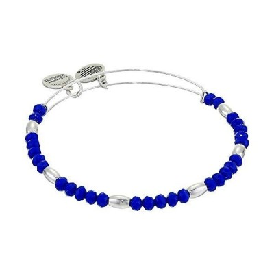 Alex and Ani Balance Bead II Bracelet Royal Blue 1 One Size, Shiny Silver,