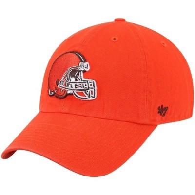 フォーティーセブン メンズ 帽子 アクセサリー Cleveland Browns '47 Clean Up Adjustable Hat