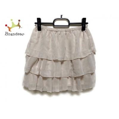 ウィルセレクション WILLSELECTION スカート サイズ1 S レディース 美品 ベージュ             スペシャル特価 20190801