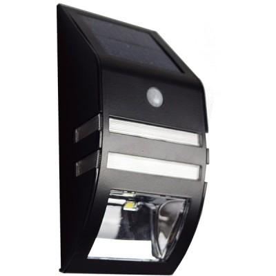 【ブラック 1個】 ZAZ 屋外 LED センサーライト 太陽光充電 ソーラー充電 玄関 ガーデンライト 防水 IPX4 新型 明るさセンサー 人感セ