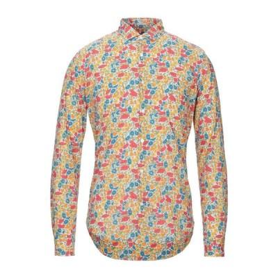 OGNUNOLASUA by CAMICETTASNOB 柄入りシャツ  メンズファッション  トップス  シャツ、カジュアルシャツ  長袖 オレンジ