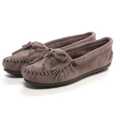ミネトンカ MINNE TONKA KILTY SUEDE MOC(Grey)