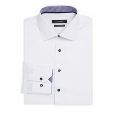 レビナス メンズ ドレスシャツ ワイシャツ Contemporary-Fit Cotton Dress Shirt