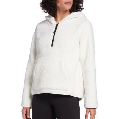 DSG レディース トップス Sherpa 1/4 Zip Pullover (Regular and Plus) White Ivory