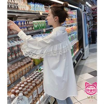 長袖 シャツ ブラウス 原宿系 レース ファッション レディース 派手 個性的 ダンス 衣装 コスチューム ヒップホップ