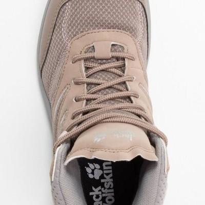 ジャックウルフスキン レディース スポーツ用品 WOODLAND TEXAPORE MID - Hiking shoes - clay/light grey