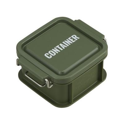 コンテナ ランチボックス お弁当箱 1段 300ml 仕切付 男性 レンジ対応 食洗機対応 おしゃれ カーキ 日本製 OSK CNT-300