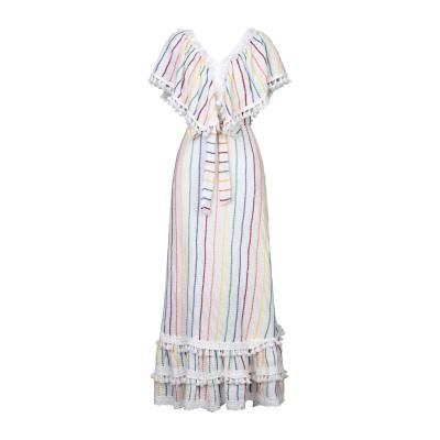 PLACE NATIONALE ロングワンピース&ドレス ホワイト 2 コットン 100% ロングワンピース&ドレス
