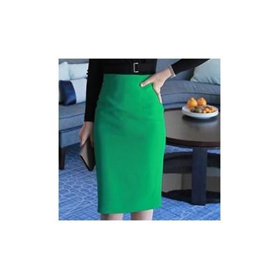 シンプル 膝丈 タイトスカート 豊富な4color♪ オン オフ スタイルにも