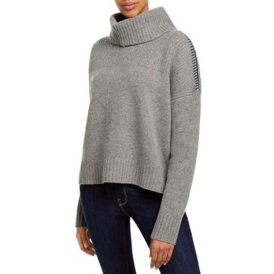 ジェイソンウー レディース ニット・セーター アウター Drop Shoulder Contrast Stitch Turtleneck Sweater