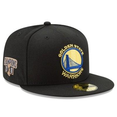 ニューエラ メンズ 帽子 アクセサリー Golden State Warriors New Era 2018 NBA Finals Champions Side Patch 59FIFTY Fitted Hat Black