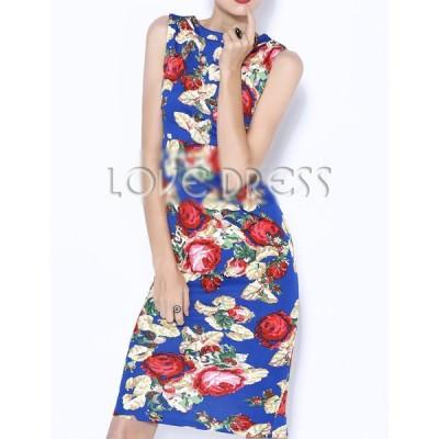 ドレス イブニング 花柄 セクシー タイトワンピース ペンシル