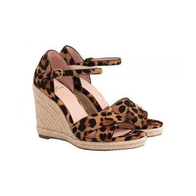 J.Crew レディース 女性用 シューズ 靴 ヒール Haircalf Espadrille Wedge Sandal - Leopard