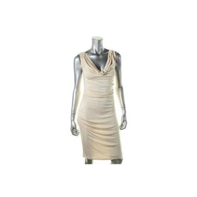 キャサリンマランドリーノ ドレス ワンピース キャットherine Malandrino 5629 レディース アイボリー シルク Blend Knee-Length Party ドレス M BHFO