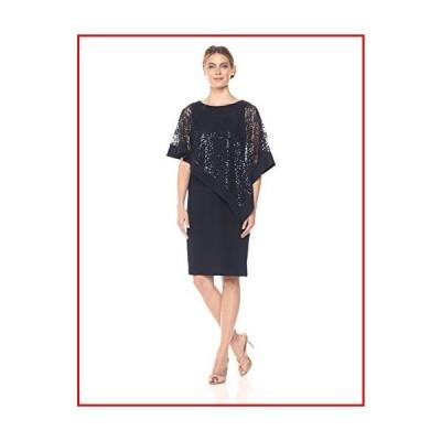 【新品】R&M Richards Women's Short Laced Poncho Dress Missy, ?Navy, 12【並行輸入品】