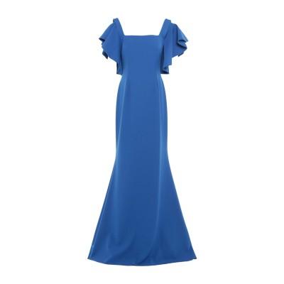 SOANI ロングワンピース&ドレス ブルー 46 ポリエステル 100% ロングワンピース&ドレス