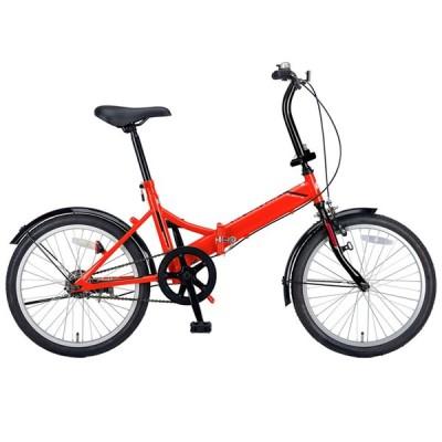 折りたたみ自転車 キャプテンスタッグ クエント FDB201 折り畳み自転車 20インチ 1段変速 軽量 20インチ レッド