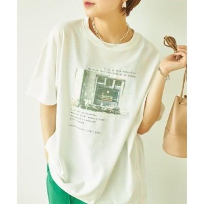 tシャツ Tシャツ 転写プリント後ろ切替Tシャツ