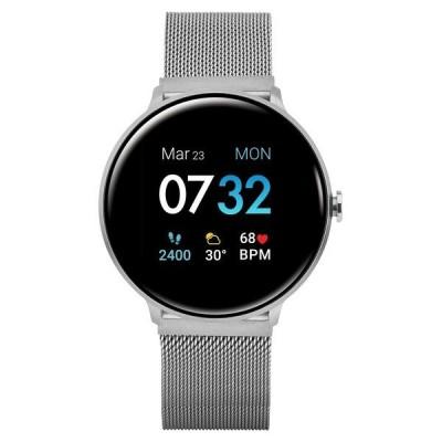 アイ タッチ 腕時計 アクセサリー レディース Men's Sport's Silver Tone Stainless Steel Mesh Strap Smart Watch 43.2mm Silver- Tone