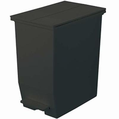 リス フタ付きゴミ箱 ソロウ ペダルオープンツイン 45L ブラック 日本製 177470