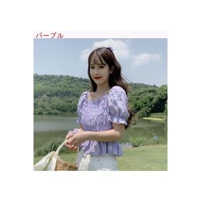 【送料無料】デイジー パフ ワイシャツ レディース 夏 韓国風 デザイン 感 小 スクエ | 346770_A62804-8792718